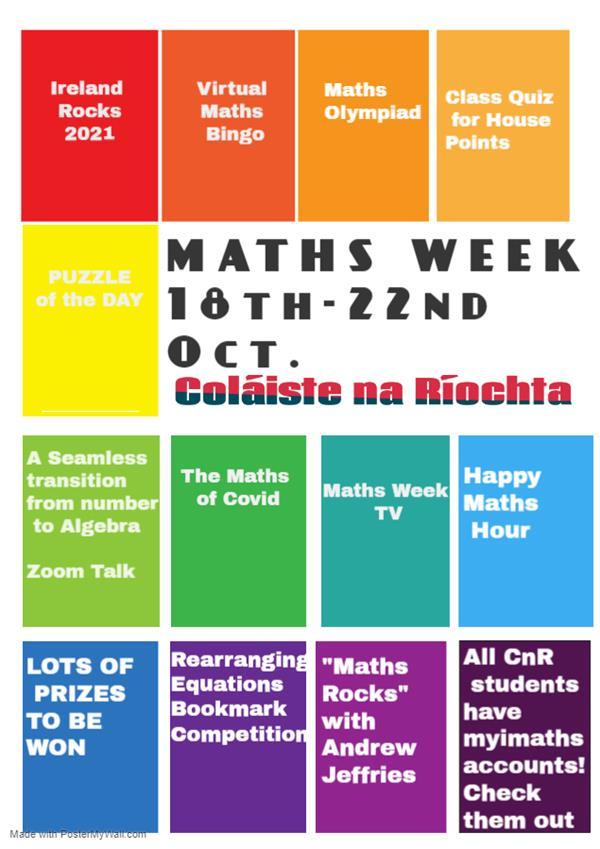 MATHS WEEK 18TH -22ND October